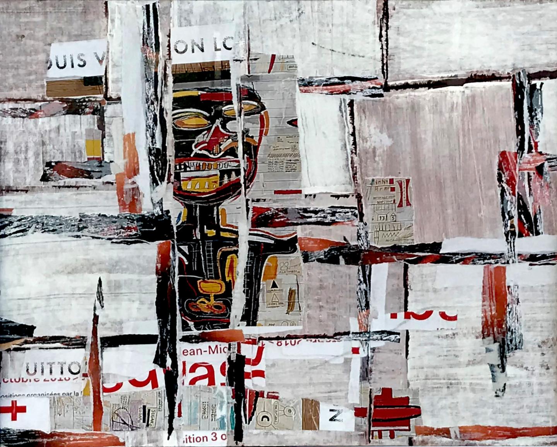 Dominique Kerkhove (DomKcollages) - Basquiat on the walls of Paris - 1 -