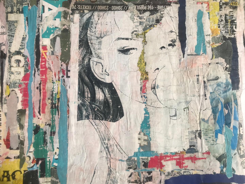 Dominique Kerkhove (DomKcollages) - Blue Bubble Girl